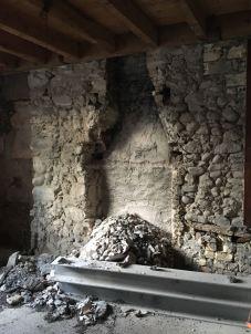 découverte d'un ancien conduit de cheminée